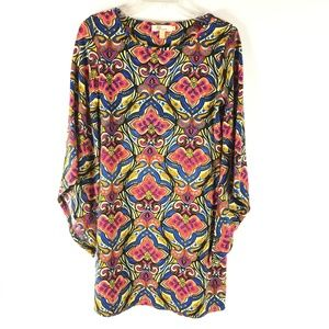 Aryeh Women Floral Print Sweater Dress Bell Sleeve
